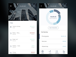 UI临摹-Clear Banking Mobile UI