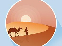 插画学习-人与骆驼