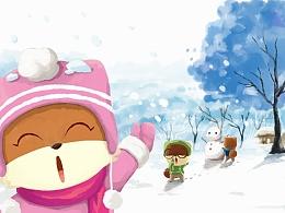 【三只松鼠】-冬季明信片