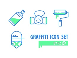 Graffiti icon set