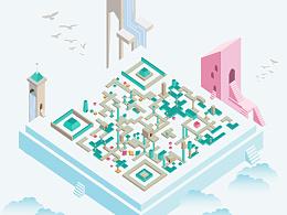 Monument Valley风格二维码设计