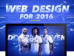 皇家马德里专题页web design