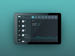 智能家居终控平板UI设计