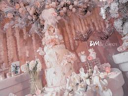 婚礼蛋糕粉色系