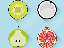 扁平水果,图标临摹