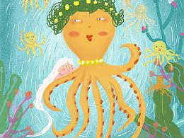海洋插画设计与包装设计