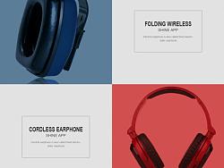 某耳机品牌网页设计
