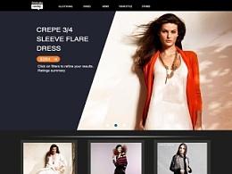 女装Web设计练习!!