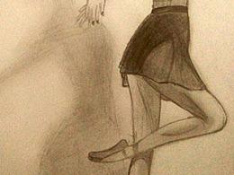 芭蕾女生 素描