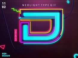 Neolight type desgin-霓虹发光字设计