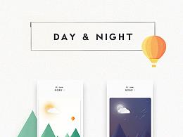 Day & Night / 黑夜白天模式切换动画