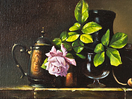 油画-古典技法-静物图片