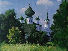 俄罗斯圣彼得堡-拉多加湖-世界第15大湖泊-夏季写生作品欣赏
