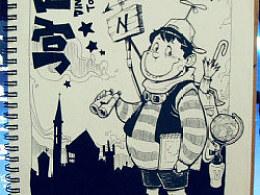 小旅行家-送给小峻的小画