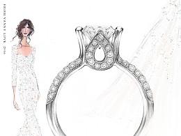 【梵尼洛芙珠宝洛可可女王系列】Lillian 设计灵感:纯洁高贵的郁金香花 - 求婚钻戒 婚戒设计