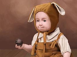 手绘 宝宝