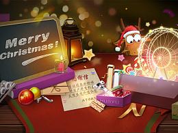 圣诞快乐  天猫 活动页面banner  促销
