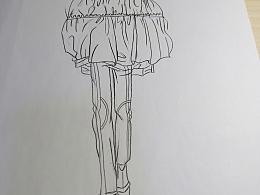 临摹的服装设计作品