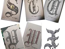 哥特字体,S、T、U、V、W、X