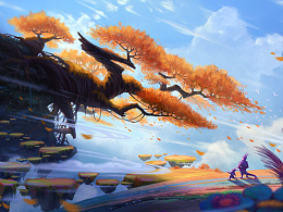 《奇异岛》之-怪石大树-精灵森林