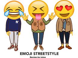 当emoji变身街头青年