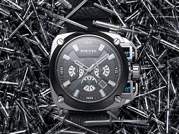 Diesel/迪赛多功能时尚男士手表拍摄照例附原图二