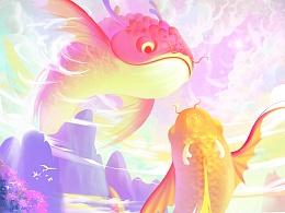 《龙鱼》插画