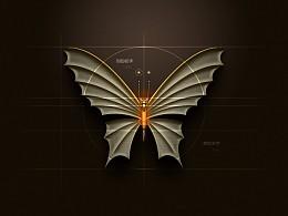 临摹了一个机械蝴蝶