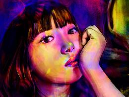 The girl's imagination