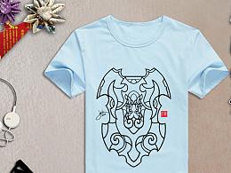 T恤设计  原创图案  盾牌