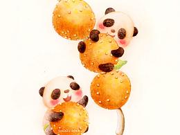 热腾腾的熊猫美食出炉啦