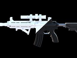 三维建模M416枪械