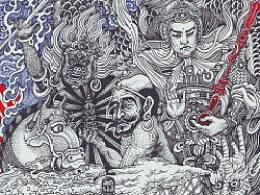 《五祖弘忍大师》手绘过程