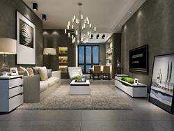 家具3D效果图-电视柜、茶几、沙发、斗柜