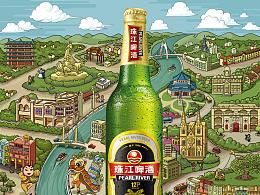 珠江啤酒公交站牌广告
