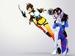 Tracer X D.va - Overwatch (wallpaper)
