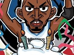 NBA涂鸦漫画