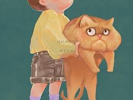 抱着猫的小菇凉