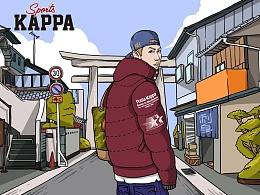kappa1/10月微博推送插画