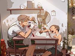 第十届金龙奖最佳插画《国产青春》系列
