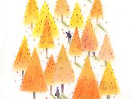 """【色粉小画之""""那棵树""""】"""