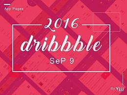 dribbble 9月作品