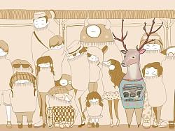 Dear Deer——《亲爱的鹿》主题插画设计