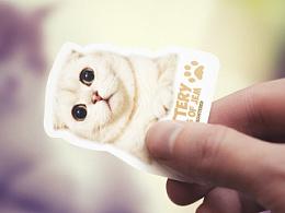Cattery Folds of Jem business card design 貓咪名片设计