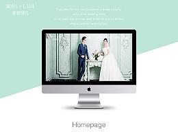 婚纱摄影专题网页设计