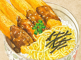 日餐菜单插画