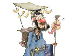 儿童插画·游方道士色稿