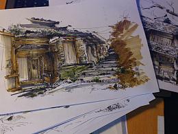 景观手绘:《从噶丹松赞林寺看藏汉民族文化差异》