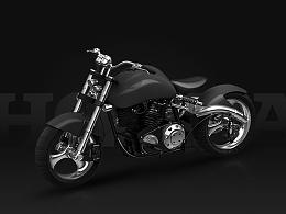 摩托车建模渲染表现