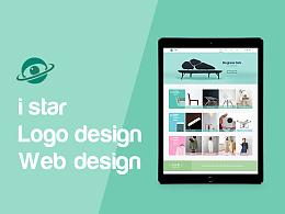 i star Logo及官网设计
